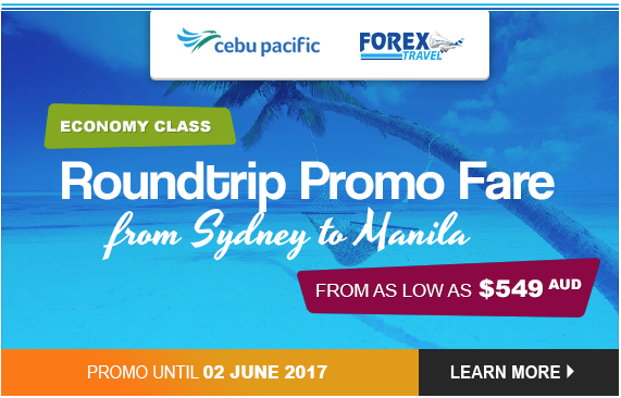 Sydney to Manila Flight Promo