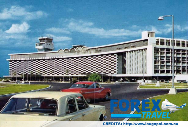 Forex Travel Australia Throwback Manila international airport color Postcard 1960s
