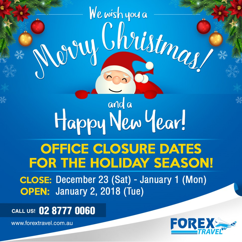 forex-travel-australia_office_closure_announcement_holiday-christmas