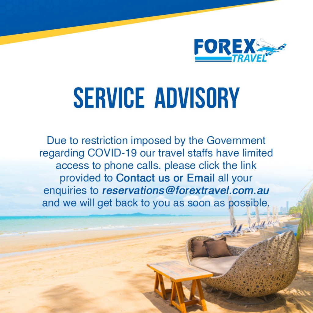 Forex Travel Service Advisory, Covid-19